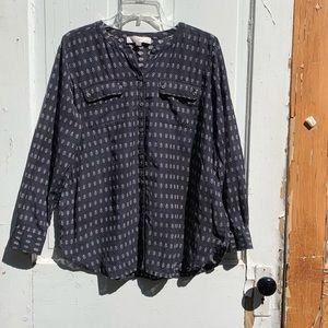 Loft Petites cotton blouse Size Large